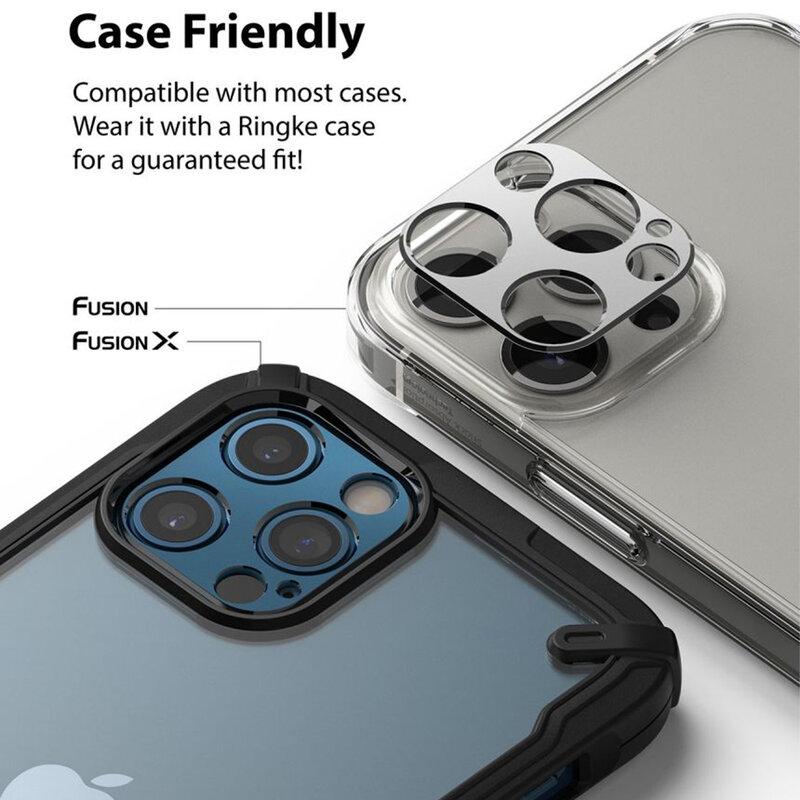 Folie Obiectiv iPhone 12 Pro Max Ringke Camera Styling Din Otel Inoxidabil - Argintiu