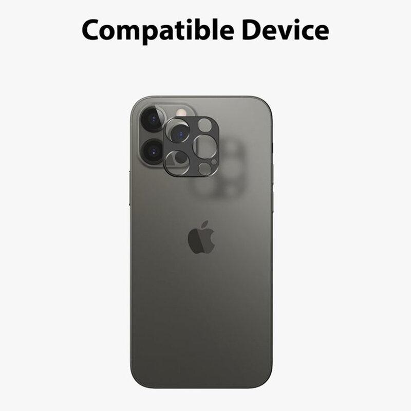 Folie Obiectiv iPhone 12 Pro Ringke Camera Styling Din Otel Inoxidabil - Negru