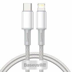 Cablu de date Baseus, Type-C la Lightning, PD 20W, 1m, alb, CATLGD-02