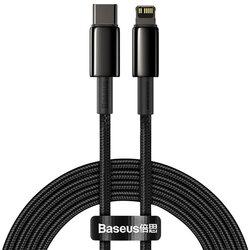 Cablu de date Baseus, Type-C la Lightning, PD 20W, 2m, negru, CATLWJ-A01