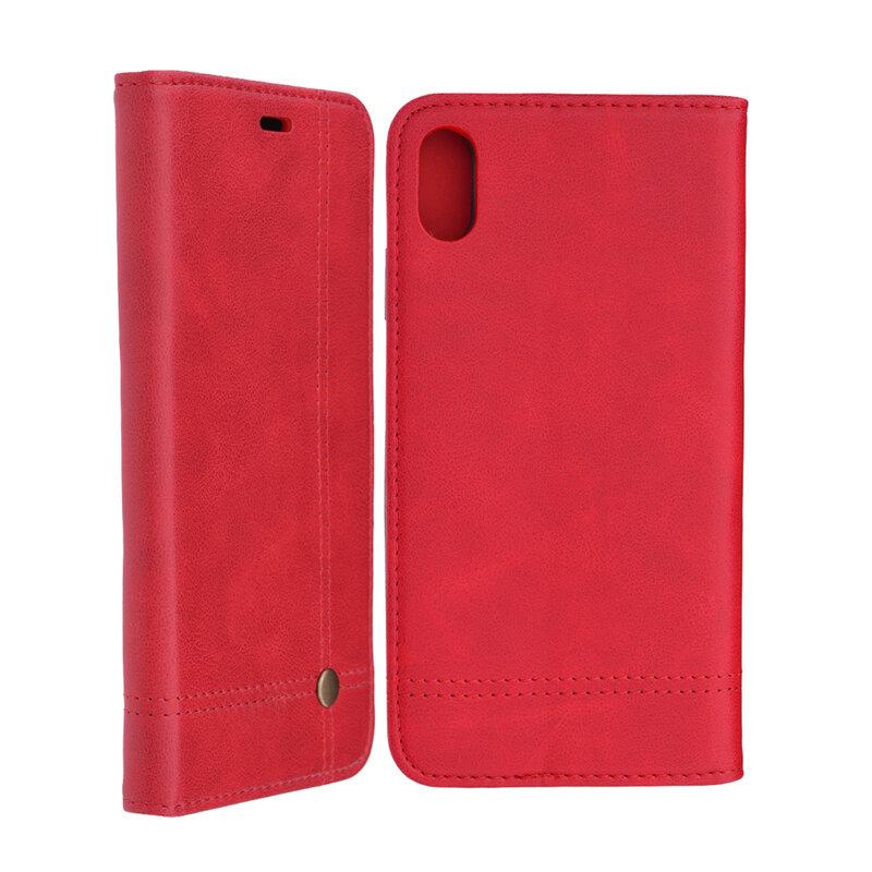 Husa iPhone XS Max Flip Prestige Book Rosu