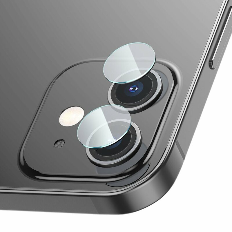[Pachet 2x] Folie Camera iPhone 12 Baseus Gem Lens Film - SGAPIPH54N-JT02 - Clear