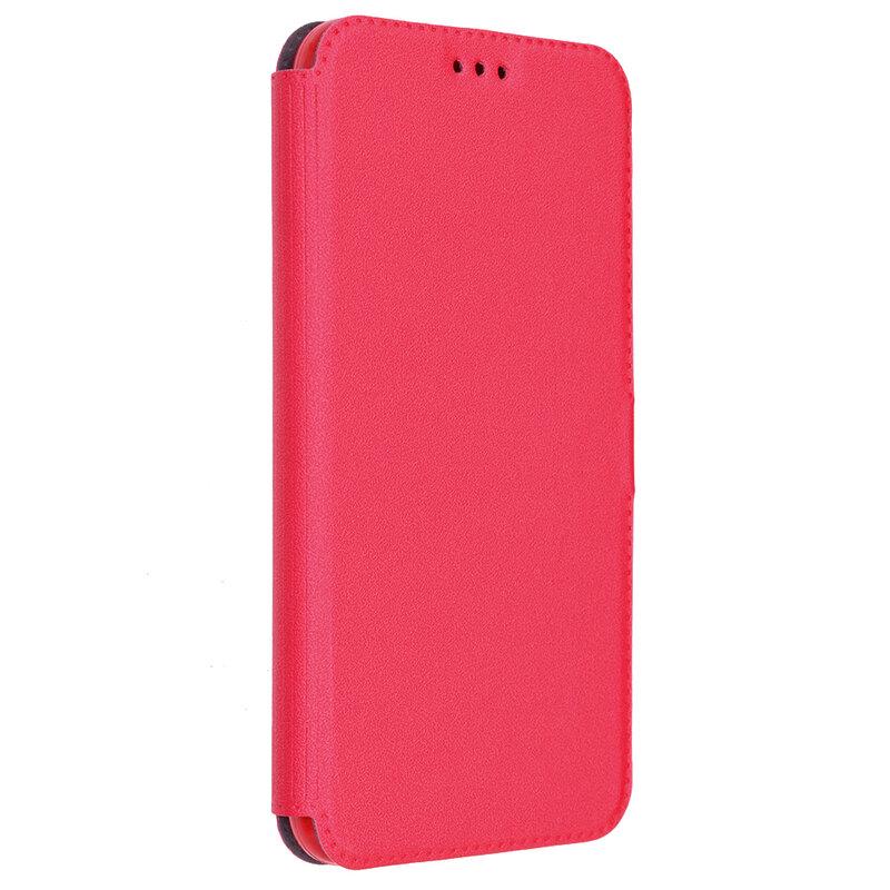 Husa Pocket Book iPhone XS Max Flip Rosu