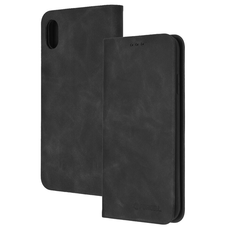 Husa iPhone XS Max Forcell Silk Wallet - Black