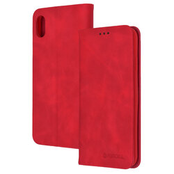 Husa iPhone XS Max Forcell Silk Wallet - Red