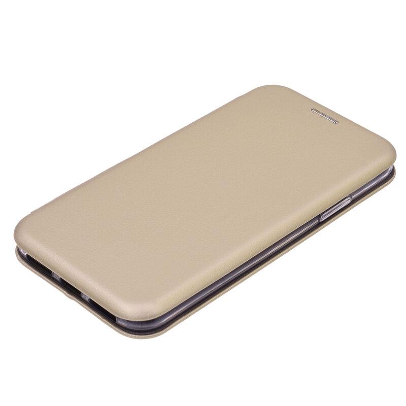 Husa iPhone XS Flip Magnet Book Type - Gold
