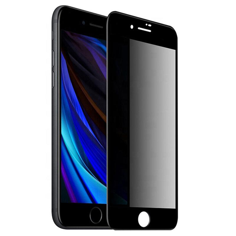 Folie Sticla iPhone 7 Lito Privacy Cu Rama - Negru