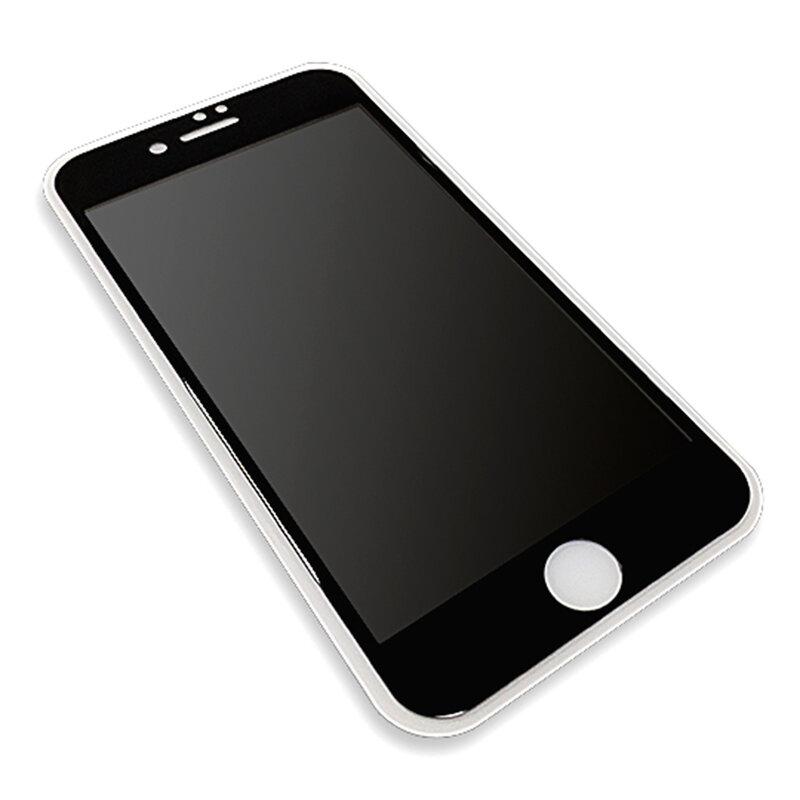Folie Sticla iPhone 8 Lito Privacy Cu Rama - Negru