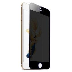 Folie Sticla iPhone 6 / 6S Lito Privacy Cu Rama - Negru
