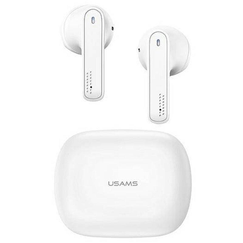 Casti in-ear wireless USAMS, TWS earbuds, Bluetooth, alb, BHUSM01