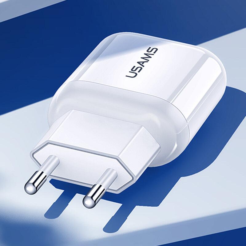 Incarcator priza USAMS T19, universal, USB 2.1A, alb, US-CC078