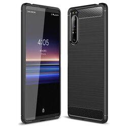 Husa Sony Xperia 5 II TPU Carbon - Negru