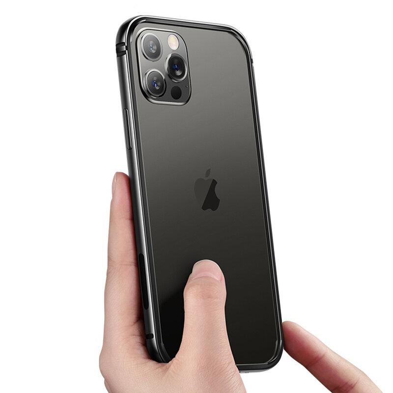 Bumper iPhone 12 Pro Max USAMS Fellwell, aluminiu, negru