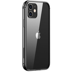 Bumper iPhone 12 mini USAMS Fellwell, aluminiu, negru