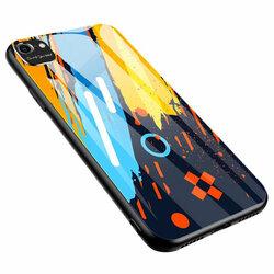 Husa iPhone 7 Multicolora Din Sticla Securizata - Model 1