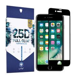 Folie Sticla iPhone 7 Plus Lito 2.5D Full Glue Full Cover Cu Rama - Negru