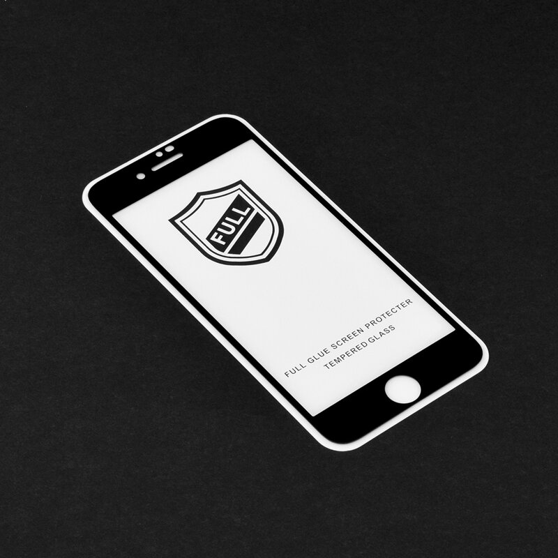 Folie Sticla iPhone 8 Plus Lito 2.5D Full Glue Full Cover Cu Rama - Negru