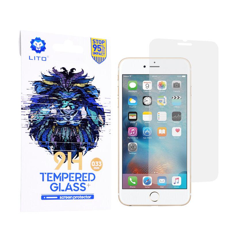 Folie Sticla iPhone 6 Plus / 6S Plus Lito 9H Tempered Glass - Clear