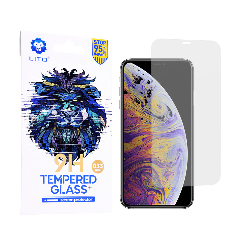 Folie Sticla iPhone 11 Pro Max Lito 9H Tempered Glass - Clear