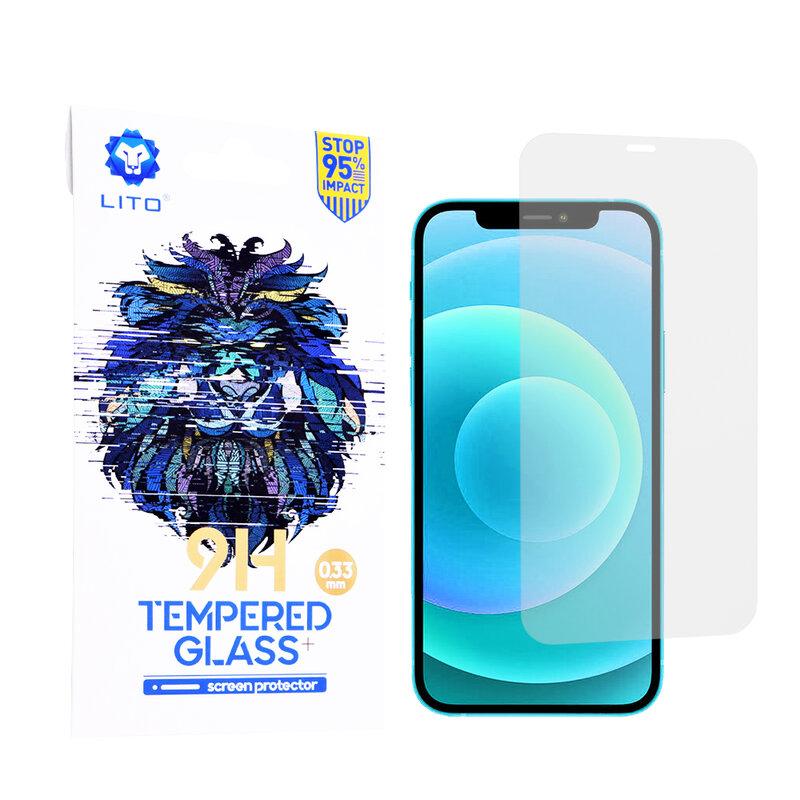 Folie Sticla iPhone 12 Lito 9H Tempered Glass - Clear