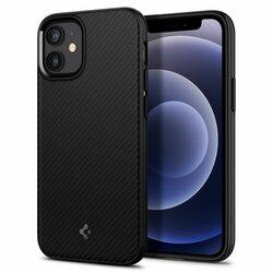 Husa iPhone 12 Spigen Mag Armor, compatibila MagSafe, Negru