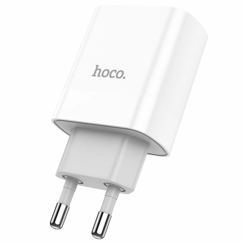Incarcator priza Hoco C80A, incarcare rapida, USB QC 3.0, Type-C PD 20W, 3A, alb