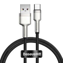 Cablu de date Baseus, USB la Type-C, 40W, 5A, 100cm, negru, CATJK-A01