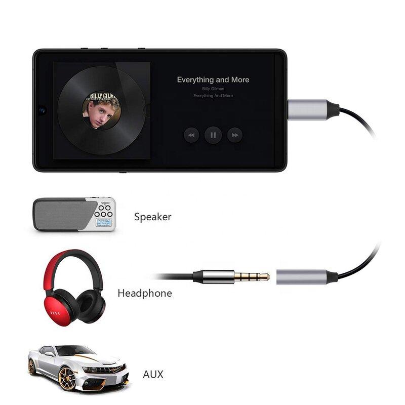 Adaptor audio, convertor Type-C la Jack 3.5mm, negru, ADCBT018