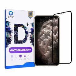 Folie Sticla iPhone XS Max Lito Anti-Blue Light Cu Rama - Black