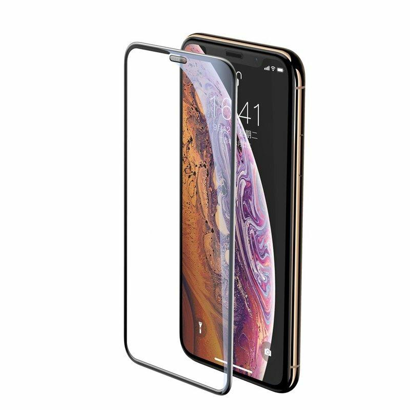 Folie Sticla iPhone 11 Pro Max Baseus Speaker Dust Protector -SGAPIPH65-WA01- Negru