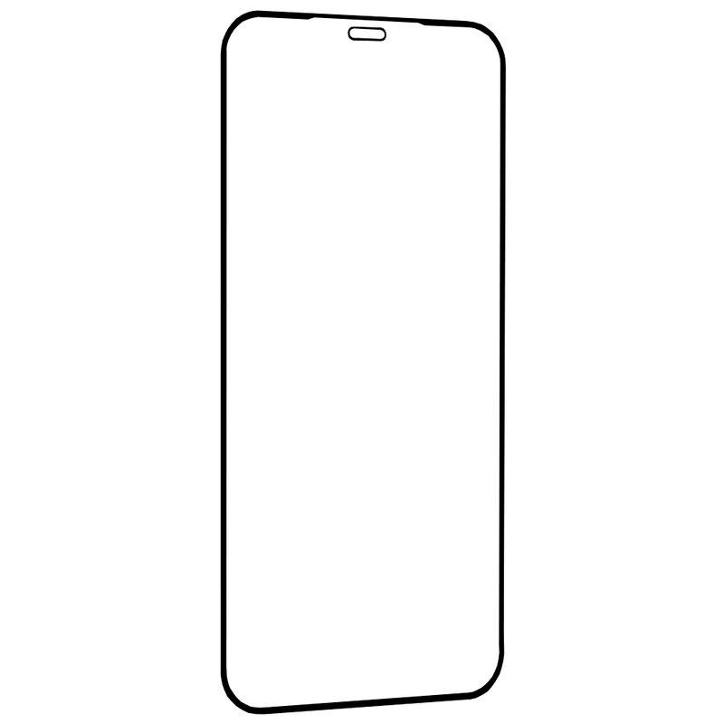 Folie Sticla iPhone 12 mini Lito 2.5D Full Glue Full Cover Cu Rama - Negru