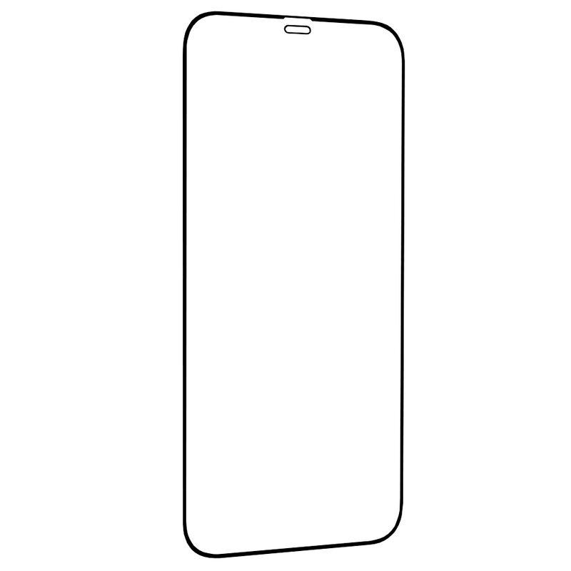 Folie Sticla iPhone 12 Lito Strongest Edges Cu Rama - Negru