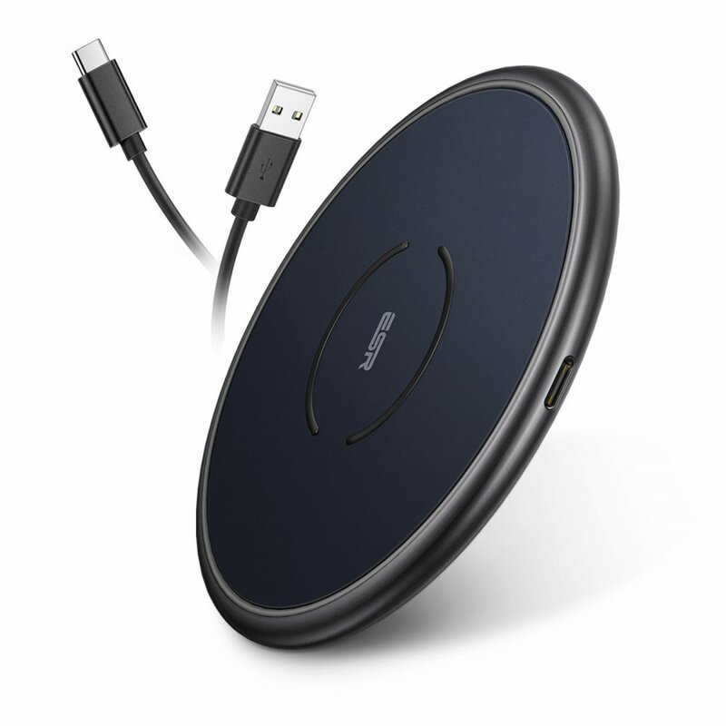 Incarcator iPhone 12 wireless MagSafe ESR Halolock 10W + cablu Type-C 1m, albastru
