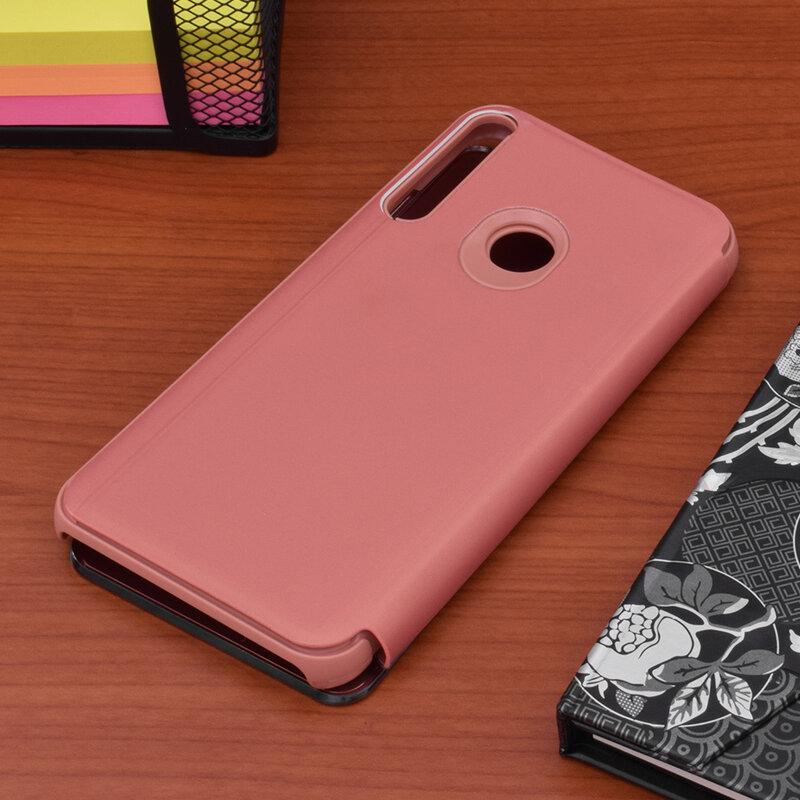 Husa Huawei P40 Lite E Flip Standing Cover - Roz