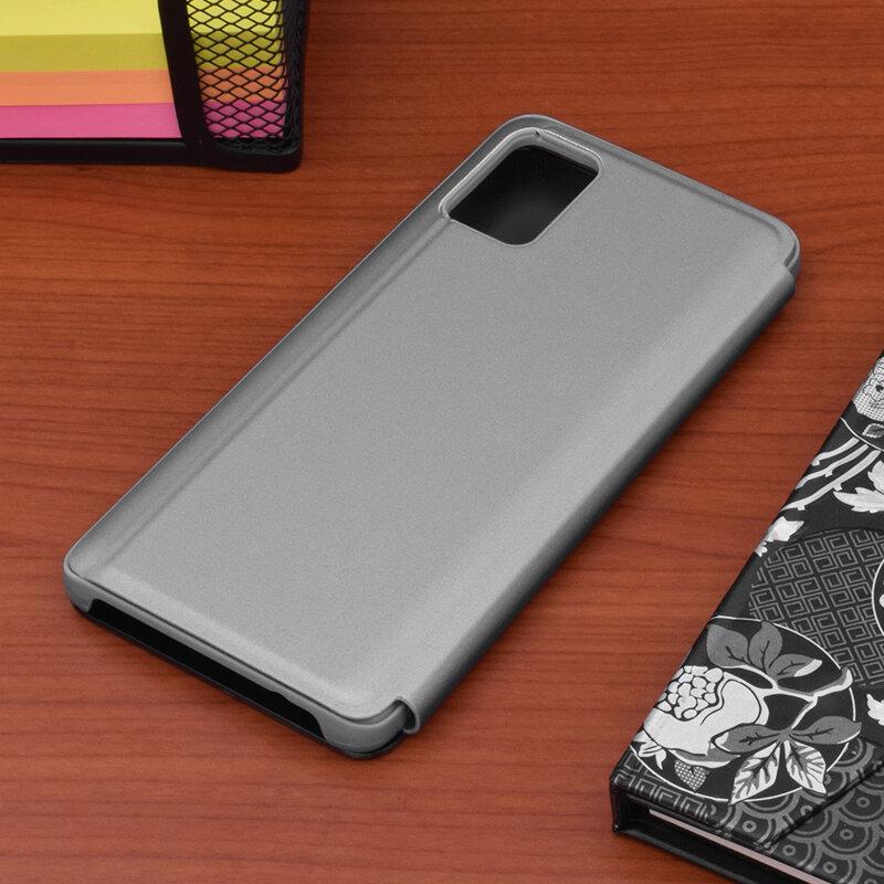 Husa Samsung Galaxy A51 Flip Standing Cover - Silver