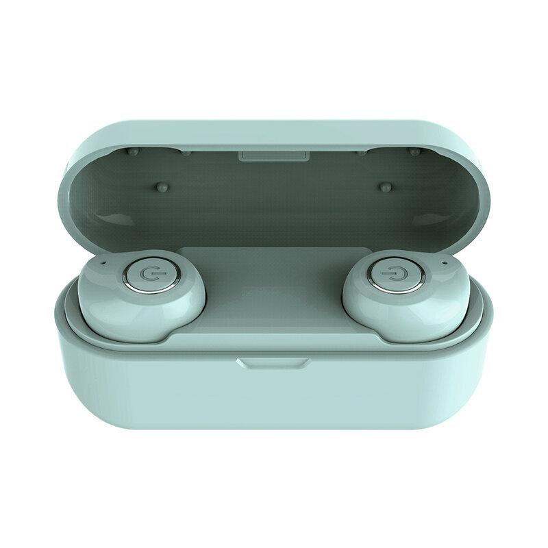 Casti in-ear wireless Gjby, TWS earbuds, Bluetooth, verde, TWS-02