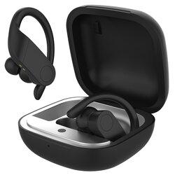 Casti in-ear wireless Gjby, TWS sport earbuds, Bluetooth, negru, TWS-08