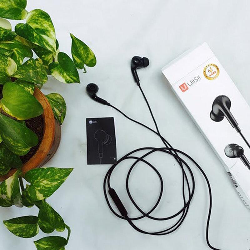 Casti in-ear UiiSii UX, microfon, telecomanda, Jack 3.5mm, 1.2m, negru