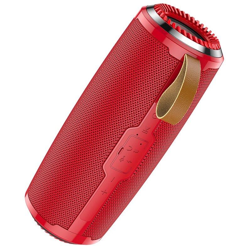 Boxa portabila Hoco BS38, TWS, waterproof, Bluetooth, Micro-SD, USB, FM, rosu