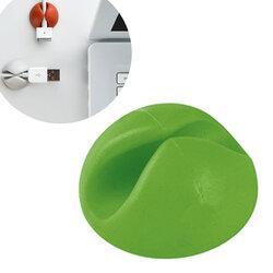 Organizator cabluri Mobster, suport birou universal cu adeziv, verde