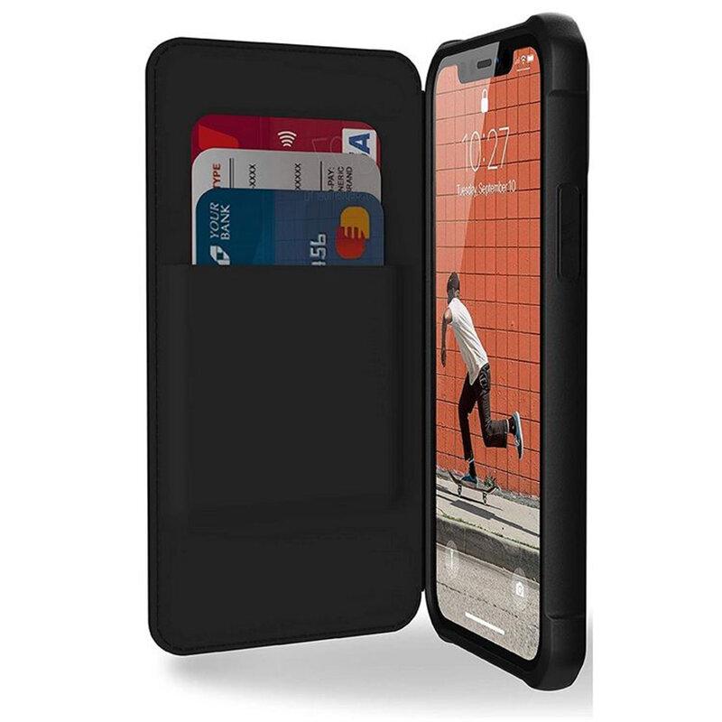 Husa iPhone 12 UAG Metropolis - FIBRARMR, negru