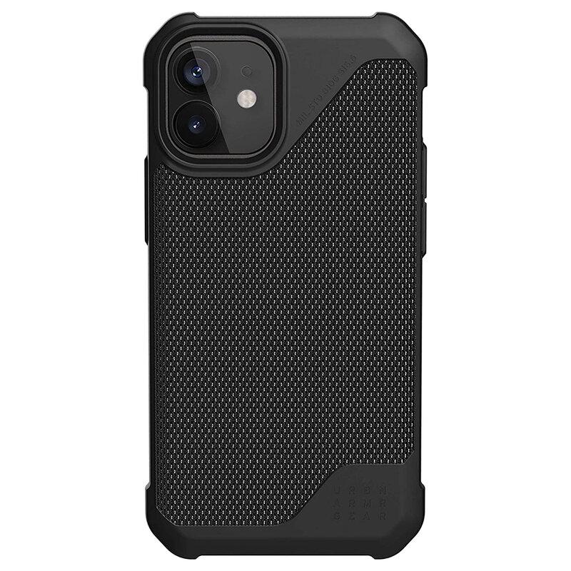Husa iPhone 12 UAG Metropolis LT - FIBRARMR, negru