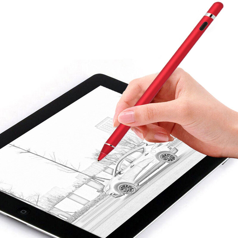 Stylus pen activ Mobster, iOS, Android, cablu de incarcare Micro-USB, rosu, JA05