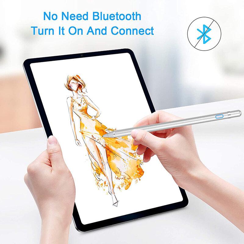 Stylus pen activ Mobster, iOS, Android, cablu de incarcare Micro-USB, argintiu, JA05
