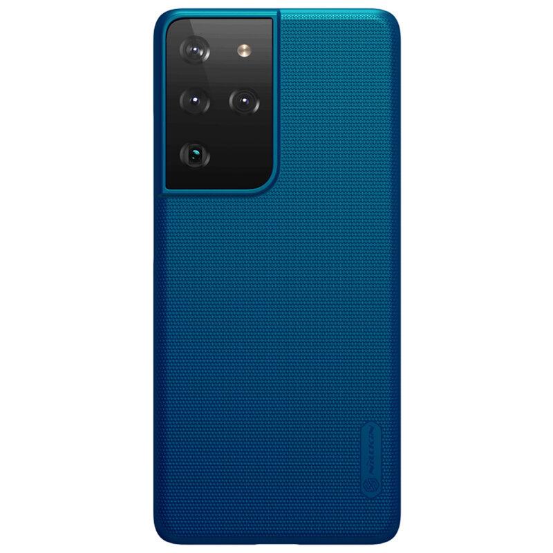 Husa Samsung Galaxy S21 Ultra 5G Nillkin Super Frosted Shield - Blue