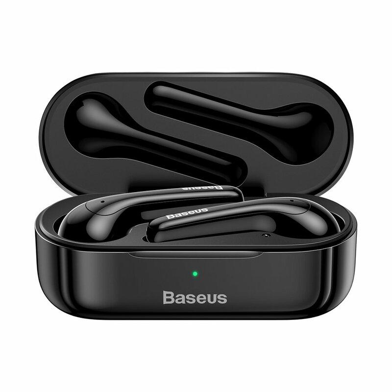 Casti in-ear wireless Baseus W07, TWS earbuds, Bluetooth, negru, NGW07-01