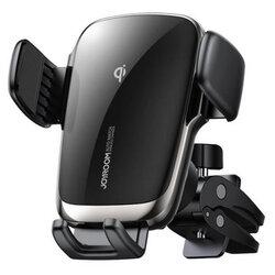 Suport telefon auto JoyRoom, incarcare wireless, grila ventilatie, negru, JR-ZS248
