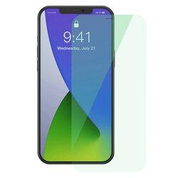 [Pachet 2x] Folie iPhone 12 Baseus Green Light, Clear, SGAPIPH61P-LQ02