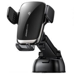 Suport telefon auto JoyRoom, incarcare wireless, bord, negru, JR-ZS248