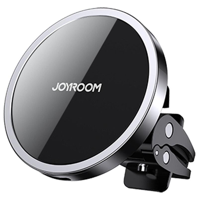 Suport telefon auto JoyRoom, incarcare wireless, grila ventilatie, negru, JR-ZS240